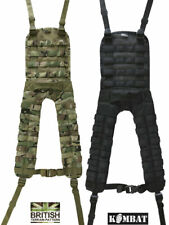 Molle Battle Yoke 4-Point For Webbing Military Army Outdoors BlackMTP K