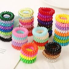 10PCS/lot 2cm Small Telephone Line Hair Ropes Girls Colorful Elastic Hair Bands