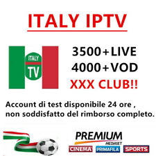 Italy IPTV M3U subscription IPTV for 3500+channels mediaset premium support