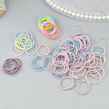 100 pieces Mini Hair Band Fashion Candy Color Rubber Ties Ring Elastic Hair