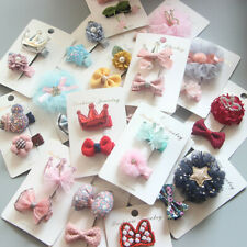 2pc/set Cute Baby Girl Hairpins Floral Hair Clips Barrettes Accessories For
