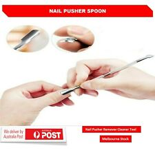 Metal Stainless Steel Manicure Pedicure Cuticle Nail Pusher Remover Cleaner Tool