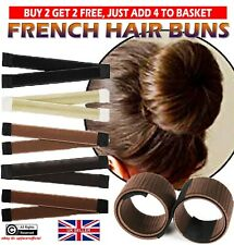 Magic French Donut Twist Hair Bun Maker Bands Easy Snap Tool Former DIY Styling