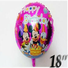 "MICKEY MOUSE HAPPY BIRTHDAY SON 18"" Round Helium Foil BALLOON Decoration Party"