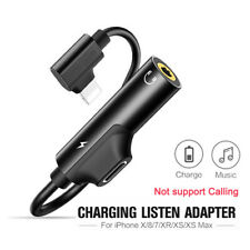 Splitter AUX Adapter Headphone Jack Lightning to 3.5mm For iPhone X MAX 7 8 Plus