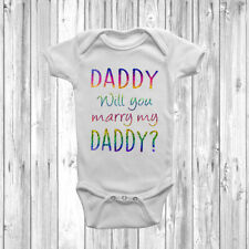 White Baby Sleep Suit Embroidered SOMEBODY GET MY DADDY A BEER sizes 0-12 mths