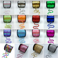 5 Yards 6mm Loose Diameter Round Flat Sequins Paillettes Sewing Trims Crafts NEW