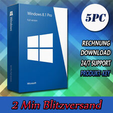 Windows 8.1 Professional ▩ WIN PRO ▩32&64Bit ▩1-5PC ▩E-Mail versand