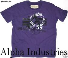 Alpha Industries T-Shirt *RUBBER T* Shirt lilac *NEU  59 ALPHA TEE
