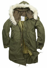 NEW ORIGINAL US M65 FISHTAIL PARKA LINED  HOODED S M L