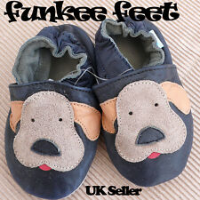 NEW LEATHER BABY SHOES 0-6,6-12,12-18,18-24 mths DOGGY