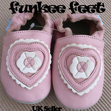 NEW SOFT LEATHER BABY SHOES 0-6, 6-12,12-18 mths PINK H