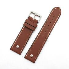 Beco Technic Chrono XL Thick Tan Brown Leather Watch Strap: Sizes 18 - 32mm (B7)