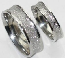 his or hers 6MM OR 4MM SPARKLE WEDDING RING BAND STR185