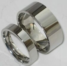 DESIGNER  his hers 4mm 9mm plain STAINLESS STEEL   WEDDING RING BAND STR247