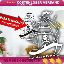 Wandkings Wandtattoo Piratenschiff Pirat Schiff Boot Kinderzimmer Segel 37x50 cm