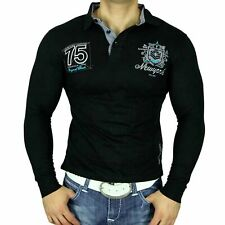 JP 5662 NEU! GEILE SWEATER PARTY CLUB HEMD POLO LONGSHIRT POLOSHIRT SCHWARZ NEU
