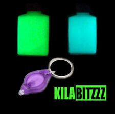 SPECIAL OFFER - Bright Glow In The Dark paint x 2, with UV Torch and Brush kit.