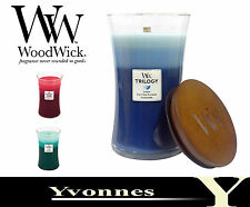 Woodwick Candle Trilogy Jars Scented 22oz 12 Different Fragrances Free P & P