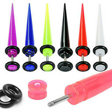 Fake / Cheater - UV Acrylic Taper / Ear Stretcher Plug with O-rings