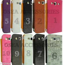 Samsung i9300 Galaxy S3 SIII Leather Cover Book Wallet Set Pouch Case Back Phone