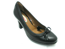 SCARPE MELLUSO DONNA DECOLTE' TACCO ALTO E PLATEAU 5432 NERO MADE IN ITALY SHOES