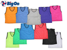 5 or 10 MESH SPORTS JUNIORS YOUTH MENS QUALITY BIBS GREEN,ORANGE,PINK,BLACK,SKY