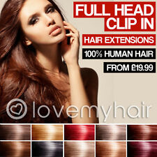 Clip In Remy Human Hair Extensions Full Head Many Colours Available lovemyhair