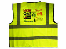 Personalised Custom HI VIZ Vests High Vis Visibility Vest Printed with text logo