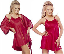 New Satin Robe & Chemise Set~ S M L XL Dressing Gown & Nightie~Womens Nightwear