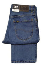 MENS LEE BROOKLYN COMFORT FIT STRAIGHT LEG JEAN ZIP FLY - STONEWASH BLUE