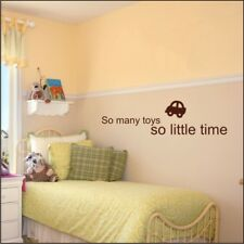 SO MANY TOYS quote wall stickers childrens bedroom playroom decals