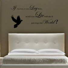 SNOW PATROL CHASING CARS lyrics wall stickers bedroom wall decal