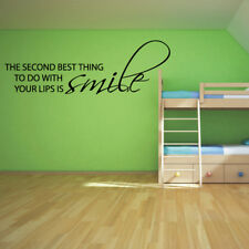 SMILE quote wall decal living room bedroom removable wall stickers
