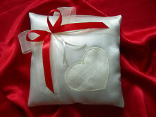 Wedding ring cushion pillow with bow and heart / 86 colors