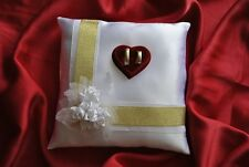 Wedding ring cushion / pillow with decoration of roses/ rings holder /86 colors