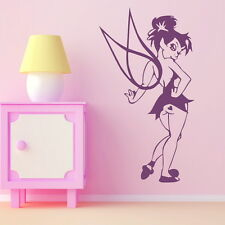 Tink Angel Wall Transfer / Girls Room Art Vinyl / Large Fairy Wall Sticker bn70