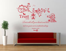 Proverbs 3 v 5 Bible Quote/Verse NIV, Christian, Vinyl Wall Art Stickers, Church