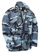 M65 US FIELD JACKET QUILT LINER VINTAGE MILITARY ARMY COMBAT COAT MIDNIGHT CAMO