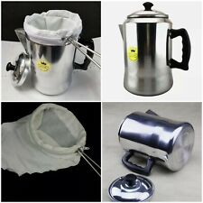Tea filter bag ring nut milk drip strainer stainless steel muslin coffee cotton