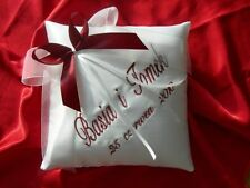 "PERSONALISED wedding ring cushion / pillow 86 colours!!!  6"" x 6"""