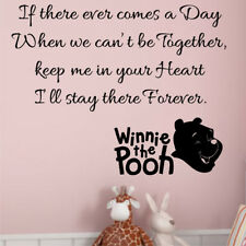 WINNE THE POOH wall stickers childrens girls bedroom kids nursery car�art quote