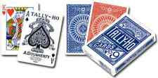 Tally-Ho Circle Mini Deck Playing Cards - Red & Blue - FREE SHIPPING - **NEW**