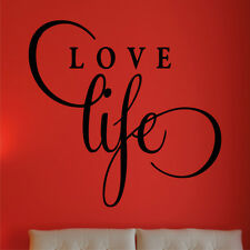 LOVE LIFE wall quote large bedroom sticker quotes�vinyl�mural transfer art decal
