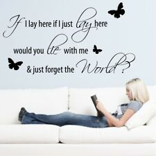 IF I LAY HERE wall sticker snow patrol music stickers quote decal lyrics quotes
