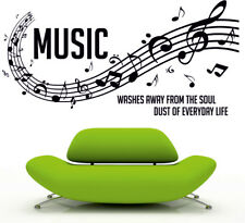 MUSIC wall sticker bedroom transfer graphic words mural quote art vinyl transfer