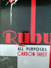 A4 CARBON PAPER SHEETS HAND COPY -BLACK/BLUE/RED- 12,24,50,100,200 or 500 SHEETS
