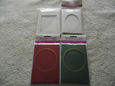 3 x Tri-fold Aperture Cards with Envelopes - Choice of colour and aperture shape