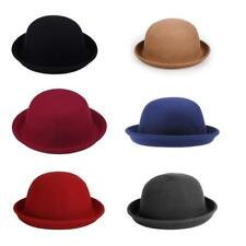 100% Brand New Fashion Vintage Style Bowler Derby Hat Womens Ladies Wool Gift