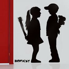 Banksy Stencils Reusable Wall Art Decor Boy Meets Girl Paint Banksy Stencil